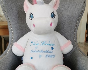 Unicorn, Cubbie Cuddly Toy Personalized Embroidered, Plush Toy, Stuffed Toy
