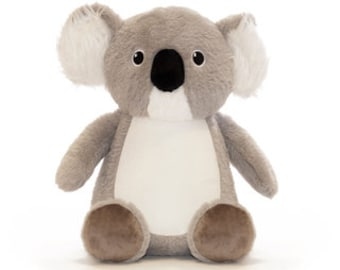 Koala, Cubbie cuddly toy personalized embroidered, plush toy, stuffed animal