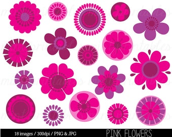 Clipart flowers flower clipart clip art bright flowers flower clipart clip art pink flowers clipart clip art spring flowers retro flowers floral commercial personal buy 2 get 1 free mightylinksfo
