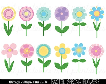 Flower clipart spring flower clipart clip art digital etsy flower clipart clip art spring flower clipart clip art flowers clipart retro flowers floral commercial personal buy 2 get 1 free mightylinksfo