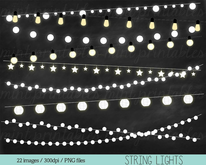 BUY 2 GET 1 FREE! Personal /& Commercial String Lights Clipart Lights Clipart Holiday Christmas Lights Fairy Lights Clipart Clip Art