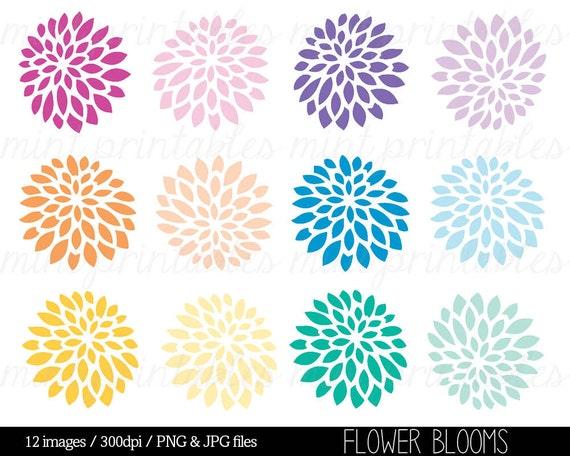 Flower Clipart Spring Flower Clipart Clip Art Digital Etsy