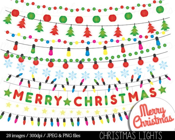 Christmas Fairy Lights Png.Christmas Lights Clipart String Lights Fairy Lights Clip Art Colored Festive Holiday Merry Xmas Personal Commercial Buy 2 Get 1 Free