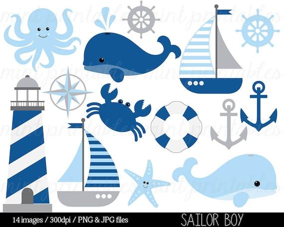 nautical clipart clip art anchor clipart whale clipart etsy rh etsy com nautical clip art borders nautical clip art images