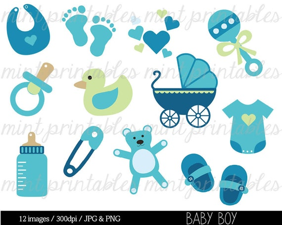 Baby Shower Clipart Clip Art Baby Boy Clipart Baby Clipart Etsy