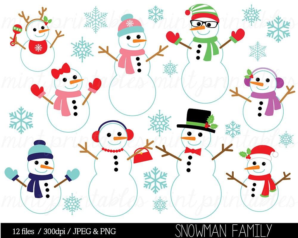 Weihnachtscliparts Weihnachten Clip Art ClipArt Schneemann | Etsy