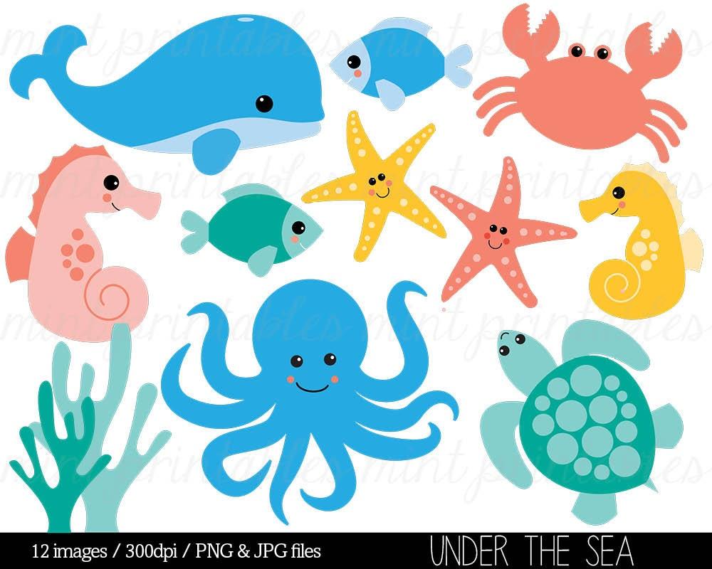 Sea Animal Clipart Under the Sea Baby Sea Creatures Clip ...