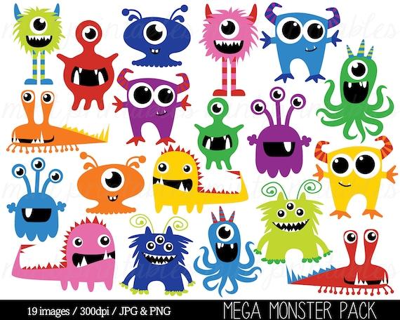 monster clipart monsters clip art birthday clipart monster etsy rh etsy com clipart monsters inc clipart monsters free
