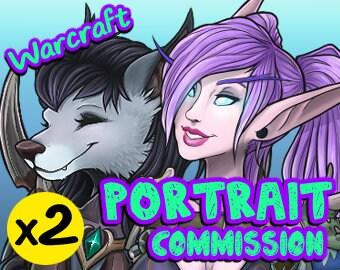 2x (TWO) World of Warcraft Custom Character Profile Image Icon [YOUR CHARACTERS] WoW Chibi