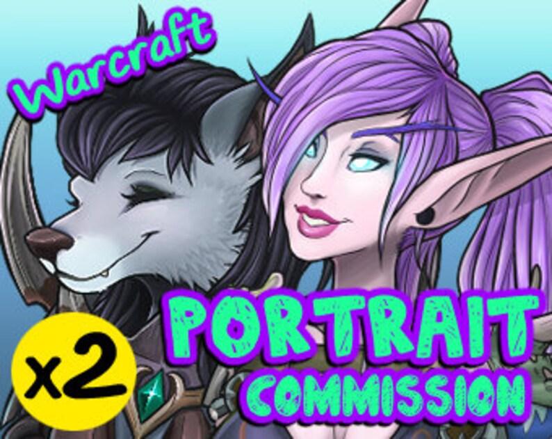 2x TWO World of Warcraft Custom Character Profile Image Icon image 0