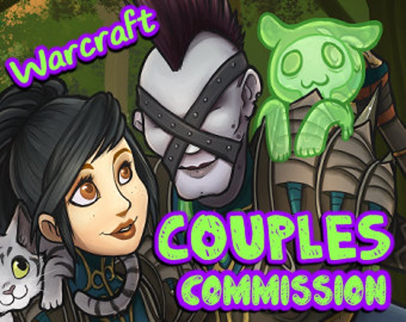 DOUBLE character  World of Warcraft Custom Character Couples image 0