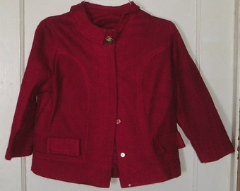 72ac32bf18f Bold, bright magenta Lady Laura by Toni Todd jacket. Size 12 1/2.