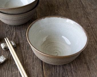 Ramen Bowl, Ceramic White Soup Bowl