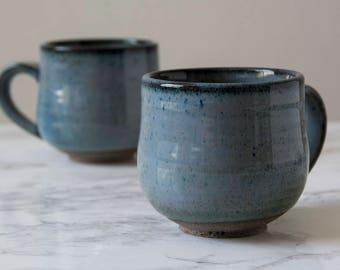 Pottery Cappuccino Cup, Small Mug, 5 fl. oz
