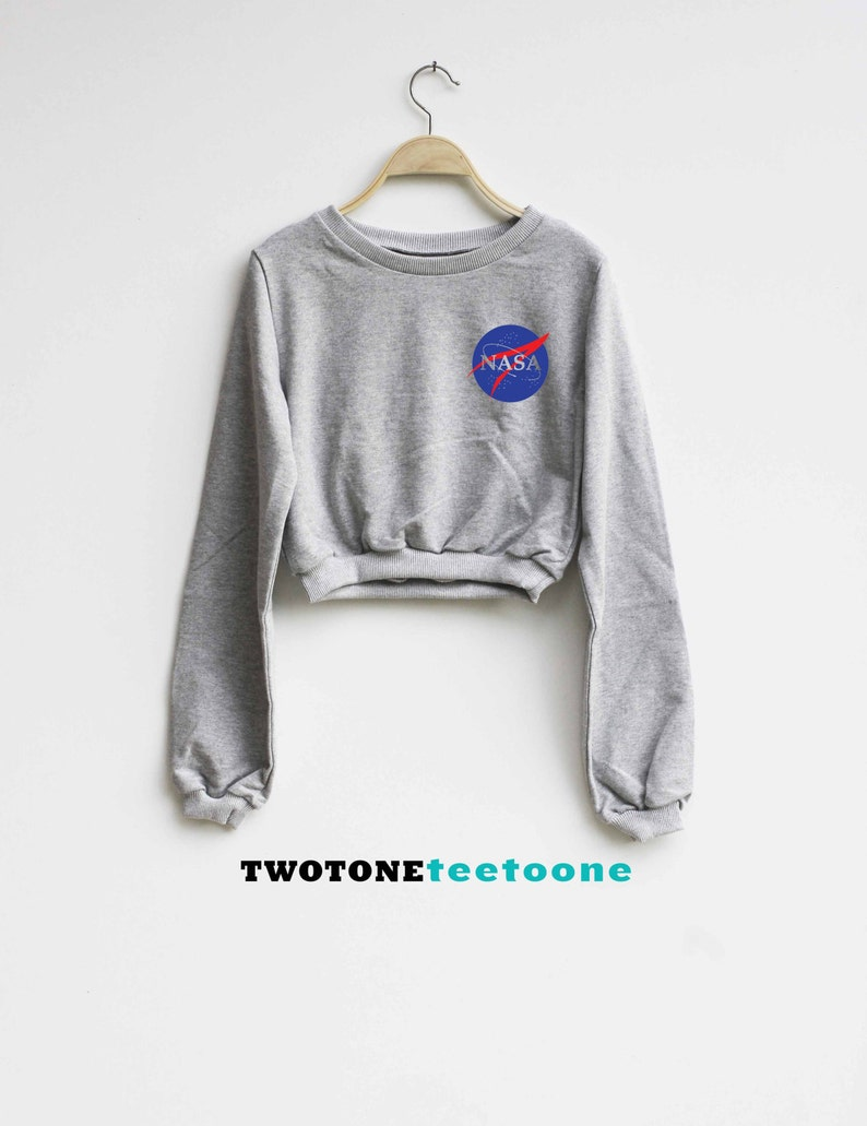 977d2ceac95699 Nasa Shirt Astronaut Crop Top Sweatshirt Sweater
