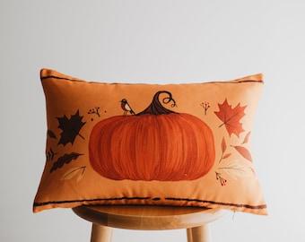 Festive Fall Autumn Entryway Welcome Pumpkin Pillow Welcome Pumpkin Pillow