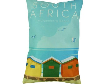 Muizenberg | Adventure Time | Travel | Pillow Cover | Wanderlust | Throw Pillow | Pillow | 12 x 18 Pillow | Adventure Await | South Africa