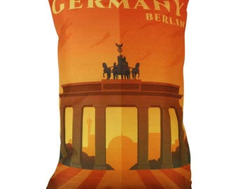 Berlin | Adventure Time | Travel | Pillow Cover | Wanderlust | Throw Pillow | Pillow | 12 x 18 Pillow | Adventure Await | Germany | Europe