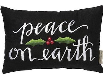 Peace on Earth | Throw Pillow | 15x10 | Joy Pillow | Home Decor | Christmas Pillowcases | Christmas Decor | Winter Decor Ideas | Peace Cover
