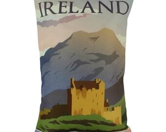Ireland | Adventure Time | Europe | Pillow Cover | Wanderlust | Throw Pillow | Travel Pillow | Home Decor | 12 x 18 Pillow | Adventure Await