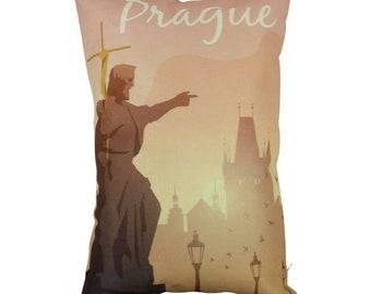 Prague | Adventure Time | Travel | Pillow Cover | Wanderlust | Throw Pillow | Pillow | 12 x 18 Pillow | Adventure Await | Czech Republic