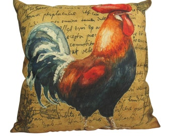 Red Rooster | Looking Right | Farmhouse Style | Pillow Cover | Farmhouse Modern Decor | Throw Pillow | Pillow | Rooster | Farm House Decor