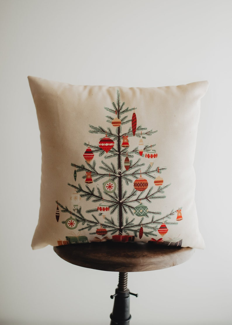 Nordic Pine Christmas Tree Throw Pillow Cover  18x18 Cover Tree Pillow