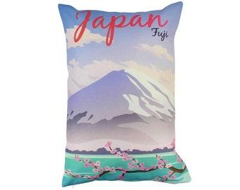 Japan | Adventure Time | Travel | Pillow Cover | Wanderlust | Throw Pillow | Pillow | 12 x 18 Pillow | Adventure Await | England | Fuji