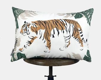 Tiger Lumbar | Tiger Decor | Tiger Print | Leaves | Decorative Pillows | Mom Gift | Home decor | Room Decor | Bedroom Decor | Throw Pillows