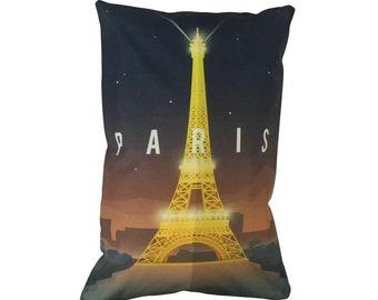 Paris | Adventure Time | Travel | Pillow Cover | Wanderlust | Throw Pillow | Pillow | 12 x 18 Pillow | Adventure Await | France | Europe