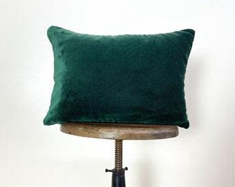 Mud-Cloth Pillow Covers | 18x12 | Emerald Green Velvet | Black and White | Throw Pillow | Modern Home Decor | Elegant Luxury Decor | Gift