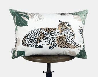 Leopard Lumbar | Leopard Decor | 18x12 | Leopard Print | Decorative Pillows | Mom Gift | Home decor | Bedroom Decor | Throw Pillows | Gift