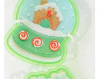 Snow Globe Cookie Cutter Set - Sweet Sugarbelle Cookie Cutters - Winter Holiday Christmas Cookie Cutters - Snowflake, Snowglobe