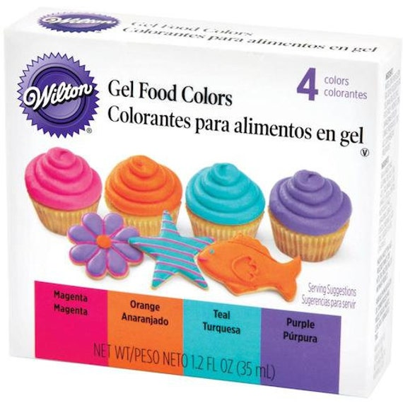 Wilton Neon Gel Food Color Set - Magenta Orange Teal Purple Food Colors -  Wilton Food Coloring - Neon Food Color