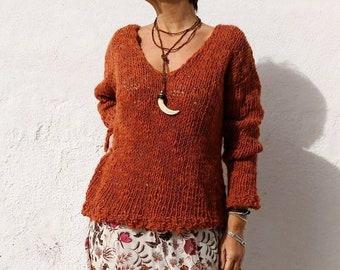 b39c4c83d Burnt orange sweater