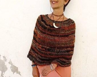 d29747c64 Wool knit poncho