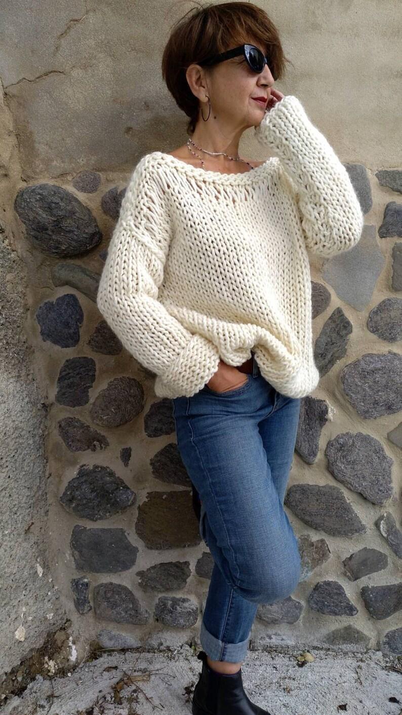 4bdd5d88c212 Alpaca women sweaters chunky wool sweater oversized chic
