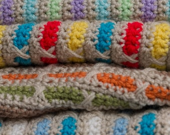 Seasons Crochet Blanket PDF pattern