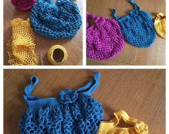 Gift or Shopping Bags PDF crochet pattern