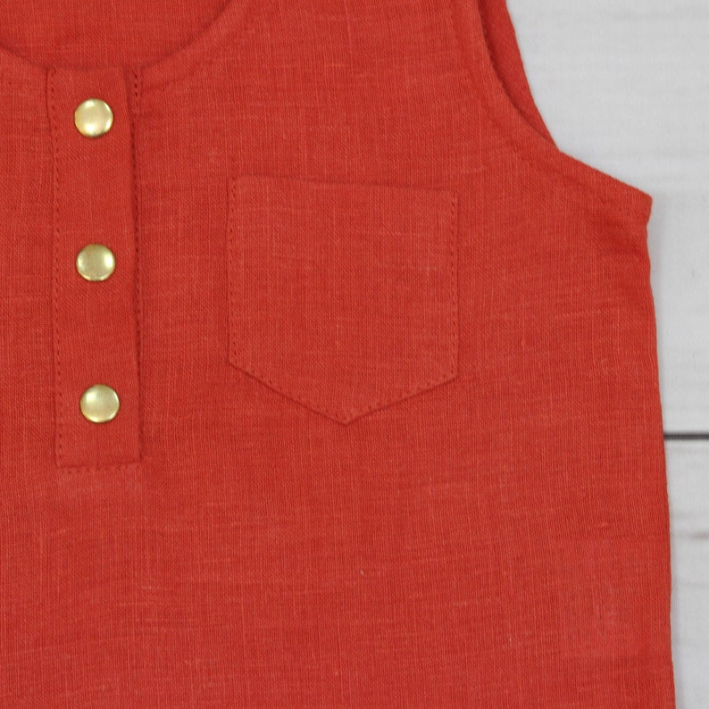 baby red top blouse baby linen blouse boho blouse urban baby red blouse urban baby clothes baby girl outfits girls tank top