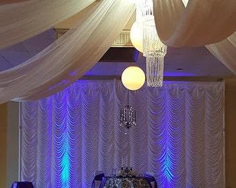 Ceiling Drape Panels, Event Draping, Event Draping, Venue Draping, Barn  Wedding Draping