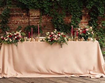 White Sequin Tablecloth Select Your Color Amp Size Sequin Etsy