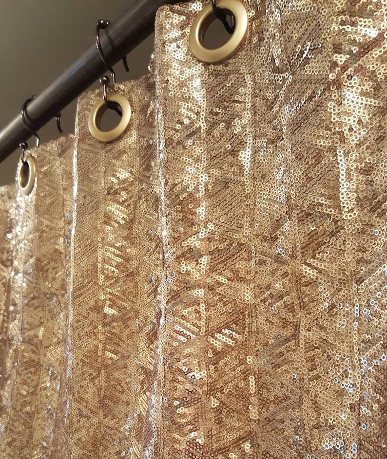Sequin Shower Curtain Choose Your COLOR Sparkle
