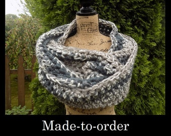 Extra Wide Chunky Ombre Eternity Scarf- Made to order