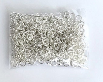 100Pcs Closed Jump Rings Sier Plating Jewelry Making