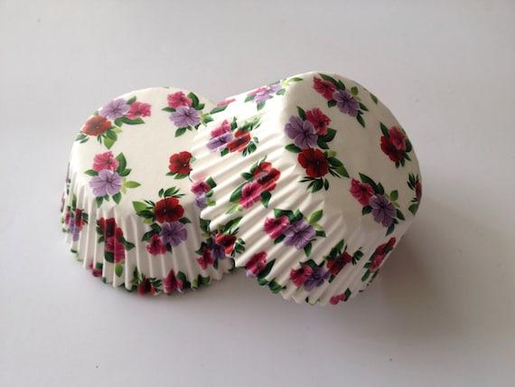 Floral Wedding Cupcake Liner Baking Cup 50 count Standard Size Orange Damask