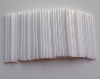 New 100 pcs White Pop Plastic Sticks Chocolate Cake Lollipop Sweet Candy Making Stick Party Cake Chocolate candy kids treats