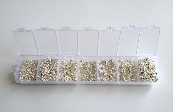 1780 PCs Assorted Mixed Gold Plated Open Jump Rings 3mm-9mm,