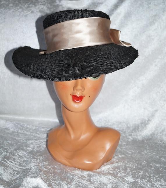 1950's Hat Summer Hat Bast
