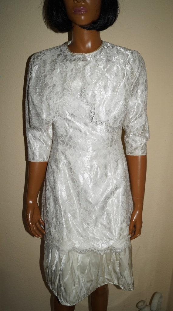60's Twiggy Wedding Dress XS